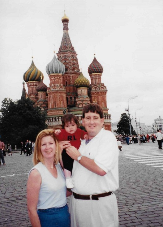 Anna and Rob Fowler with 10-month-old Ziven in Russia. (contributed)