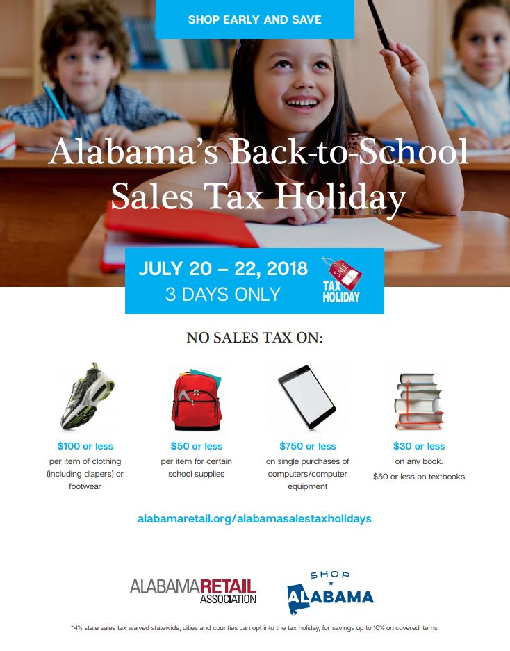Alabama Shoppers Skip State Sales Tax On Back To School Items From