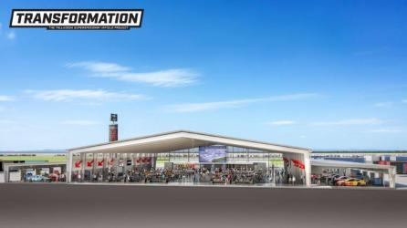 The new Open Air Club as part of the Talladega Superspeedway Transformation project. (DLR Group)