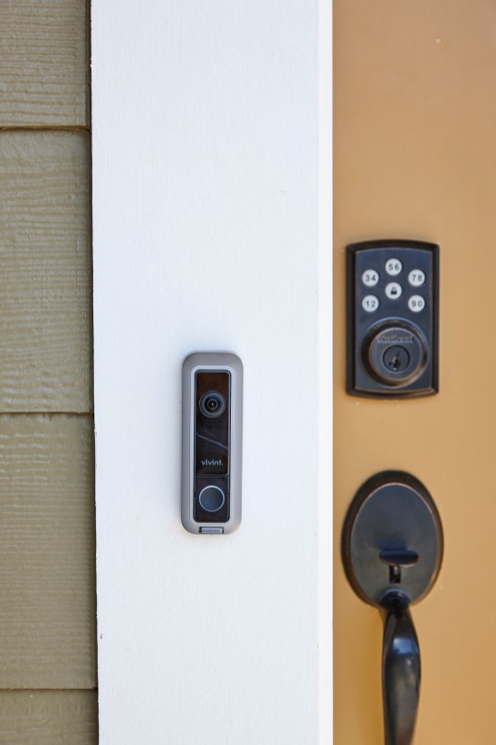 The homes in Reynolds Landing have sophisticated home security features. (file)