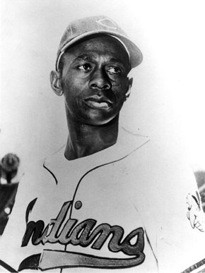 "Baseball pitcher and Mobile native Leroy ""Satchel"" Paige (ca. 1906-1982) was one of the greatest pitchers in baseball. He played for several years for the Birmingham Black Barons and for semi-pro teams in Mobile before entering the major leagues at the age of 42. He was inducted into the National Baseball Hall of Fame in 1971. (From Encyclopedia of Alabama, Birmingham Public Library Archives, courtesy of Faye Davis)"