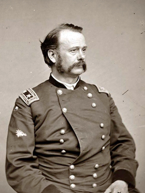 Lovell H. Rousseau (1818-1869) was a Union general during the U.S. Civil War who was responsible for a series of successful raids on Confederate rail lines and other infrastructure in east-central Alabama and west-central Georgia. He served as a U.S. congressman from Kentucky after the war and was one of the key figures overseeing the transfer of the territory of Alaska from Russia after the United States purchased it in 1867. (From Encyclopedia of Alabama)
