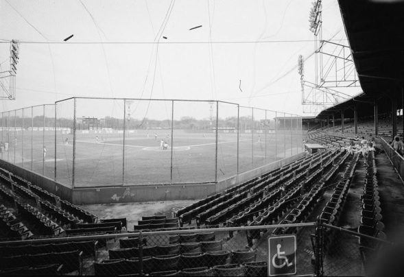 View of the pitcher's mound at Rickwood Field. (Library of Congress, Prints and Photographs Division)