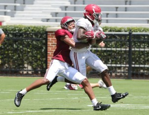 Alabama wide receiver Jerry Jeudy (4). (Kent Gidley/University of Alabama Athletics)