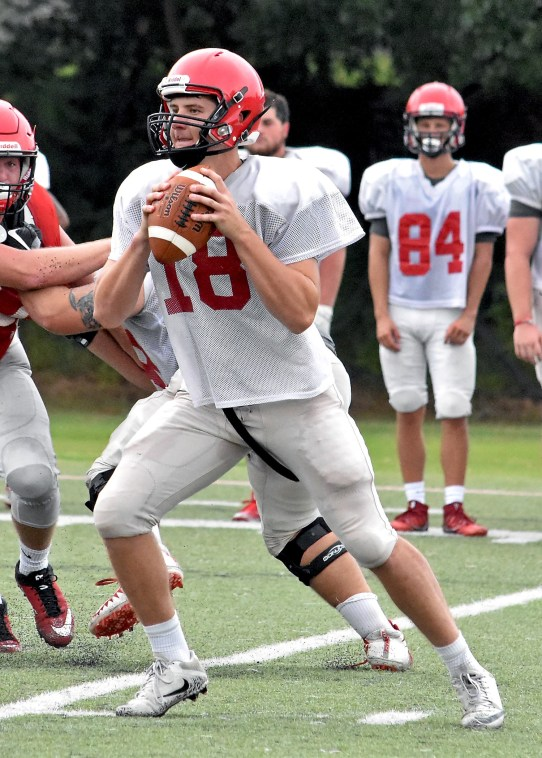 Michael Lambert is one of three Hawks contending for the starting quarterback job this season. (Huntingdon College Athletics)