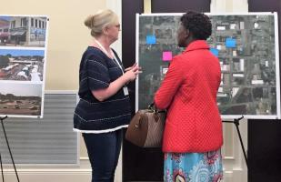 Architects, planners and designers are helping Troy officials envision the possibilities for the vacant Academy Street High School as part of the DesignAlabama DesignPlace initiative. (Michael Sznajderman / Alabama NewsCenter)