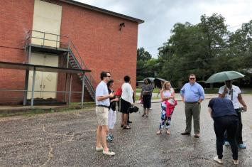 "The long-vacant Academy Street High School in Troy is used for storage and much of the property is frozen in time. But DesignAlabama architects and planners say the building has ""good bones"" and could be repurposed for a number of uses. (Michael Sznajderman / Alabama NewsCenter)"