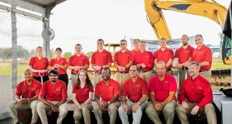 "Continental Motors employees attend a groundbreaking for the company's ""Blue Marlin"" factory in Mobile. (Continental Motors)"