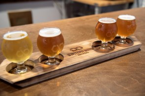 Common Bond's four original beers will never leave the rotation, co-owner Andrew McNally says, but other flavors have joined them. (Brittany Faush/Alabama NewsCenter)