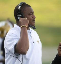 Former assistant coach Donald Hill-Eley was handed the reins at Alabama State five games into the 2017 season and coached the team to close with a 5-1 rally. (Alabama State Athletics)