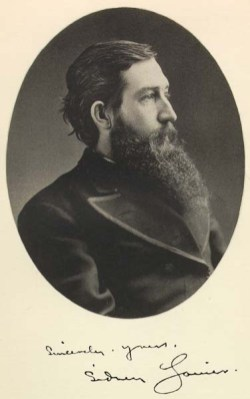 """This is the frontispiece photograph of Sidney Lanier, from """"Poems of Sidney Lanier, Edited by his Wife,"""" New York: Charles Scribners Sons, 1884."""