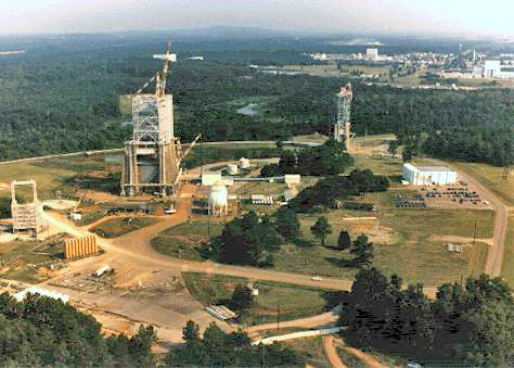 Aerial view of Marshall Space Flight Center in Huntsville. (Wikipedia)