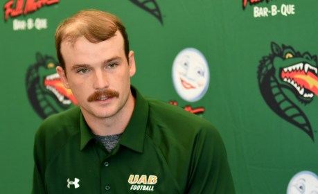 A.J. Erdely is back as UAB's starting quarterback after a strong season last year. (Solomon Crenshaw Jr./Alabama NewsCenter)