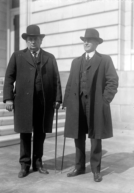 John Hollis Bankhead, with son, William B. Bankhead, c. 1913-1917. (Harris & Ewing, Library of Congress, Prints and Photographs Division)