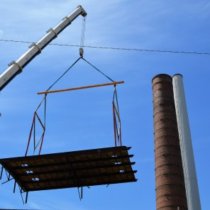 Stabilization work on Powell Avenue Steam Plant as the site gets ready for new beginnings. (file)