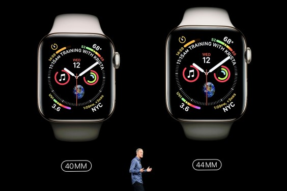 Jeff Williams, chief operating officer of Apple Inc., speaks during an event at the Steve Jobs Theater in Cupertino, California. Apple will kick off a blitz of new products this week, including a new Apple Watch. (David Paul Morris/Bloomberg)