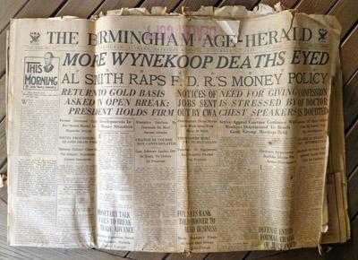 Front page of the Birmingham Age-Herald, Nov. 25, 1933. (BhamWiki)