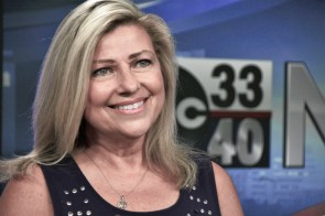 ABC 33/40 news anchor Brenda Ladun decided to be very public with her fight against cancer when she was diagnosed 17 years ago. Since then, she has written three inspirational books on the subject and holds an annual Conquer Cancer Run. (Karim Shamsi-Basha/Alabama NewsCenter)
