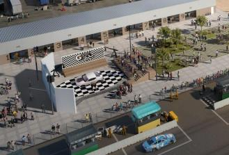 A rendering depicts the Gatorade Victory Lane in Talladega Superspeedway's Transformation project. (Talladega Superspeedway)