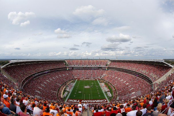 Bryant-Denny Stadium during the game between the Alabama Crimson Tide and the Tennessee Volunteers on Oct. 24, 2015 in Tuscaloosa, Alabama. (Photo by Kevin C. Cox/Getty Images)