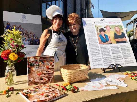 """Chef Kathy G. Mezrano, author of """"Food, Fun & Fabulous: Southern Caterer Shares Recipes and Entertaining Tips,"""" with Chef Rosalyn Bloomston at the Les Dames Takeover series. (Alabama NewsCenter)"""
