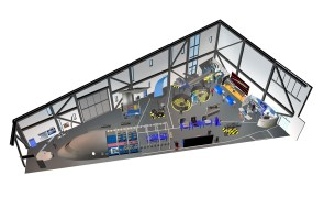 A rendering shows part of the Flight Works Alabama layout. (Airbus)