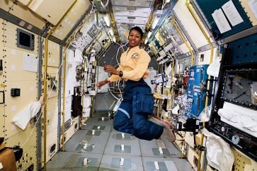 Mae Jemison, on space shuttle Endeavour, 1992. (Image credit: NASA)