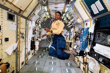 Mae Jemison, on space shuttle Endeavour, 1992. (Image credit: NASA)