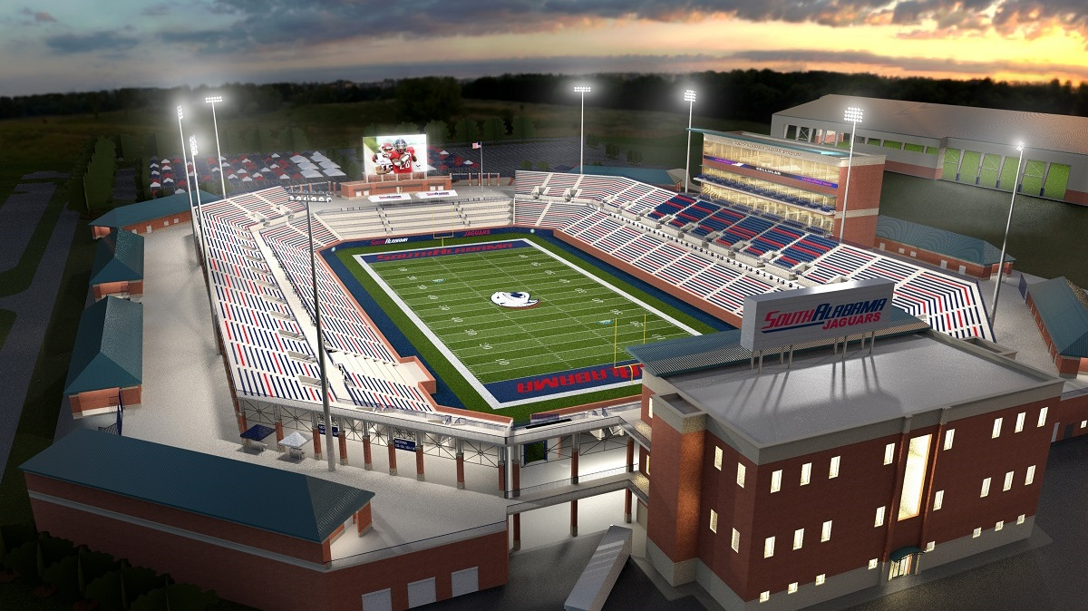 University of South Alabama kicks off campaign to build on-campus football stadium