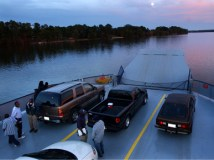 The Gee's Bend Ferry returned to service Sept. 18, 2006, after being shut down for more than 40 years. (From Encyclopedia of Alabama, courtesy of The Birmingham News)