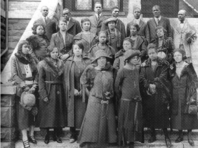 The Sixteenth Street Baptist Church Choir on the steps of the church, ca. 1917. (From Encyclopedia of Alabama, courtesy of Birmingham Public Library Archives)