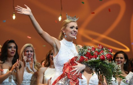 UA theatre student Callie Walker basks in the glory as a newly crowned Miss Alabama. (contributed)