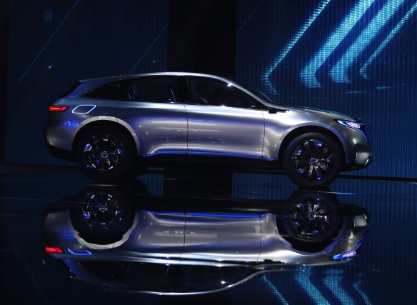 The Mercedes-Benz Generation EQ electric concept sport-utility vehicle (SUV). (Jasper Juinen/Bloomberg)