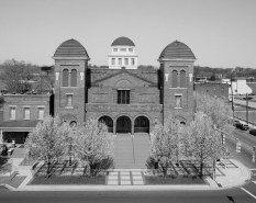 Sixteenth Street Baptist Church, Birmingham, 1993. (Photograph by Jet Lowe, Library of Congress, Prints and Photographs Division)