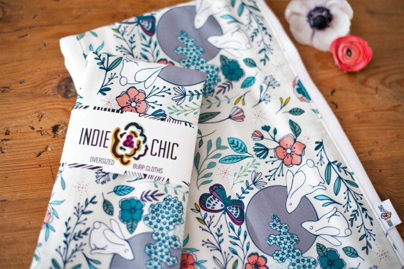 Burp cloths from Indie & Chic. (Brittany Faush/Alabama NewsCenter)