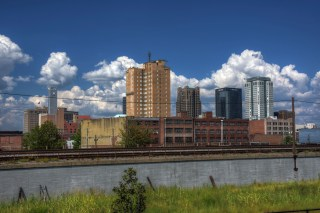 Downtown Birmingham, viewed from Railroad Park. (Getty Images)