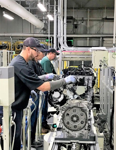 A $106 million project to replace the four-cylinder engine line at Toyota Motor Manufacturing Alabama in Huntsville is complete, and the plant produced its first next-generation engine last week. (Toyota Alabama)