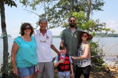 The Smith family enjoys an outing on School Bus Island. (Meg McKinney/Shorelines)