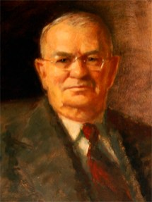 Barbour County native Chauncey Sparks (1884-1968) was Alabama's governor from 1943-47, taking office during World War II. Labor issues following the war led Sparks to re-establish the Labor Department, and the state's education system improved during his term. Prior to his governorship, Sparks was a judge in his home county and served in the state Legislature. (From Encyclopedia of Alabama, courtesy of Alabama Department of Archives and History)