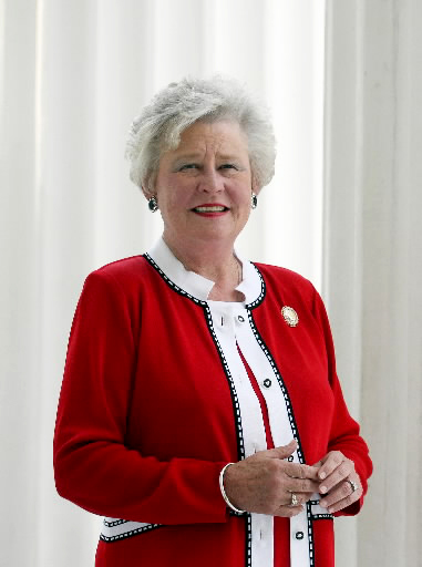 Camden native Kay Ivey (1944- ) became Alabama's 54th governor in April 2017 after the resignation of Gov. Robert Bentley. An Auburn University graduate, she worked in education, banking and economic development before being elected to office as state treasurer in 2003. She was elected lieutenant governor in 2011 and served in that office until her swearing in as governor. (From Encyclopedia of Alabama, courtesy of the state of Alabama)