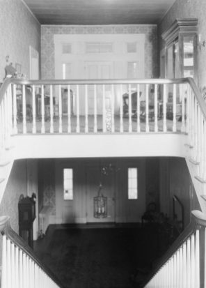 View showing both the upstairs and downstairs of Courtview, July 16, 1935. (Alex Bush, HABS, Library of Congress, Prints and Photographs Division)