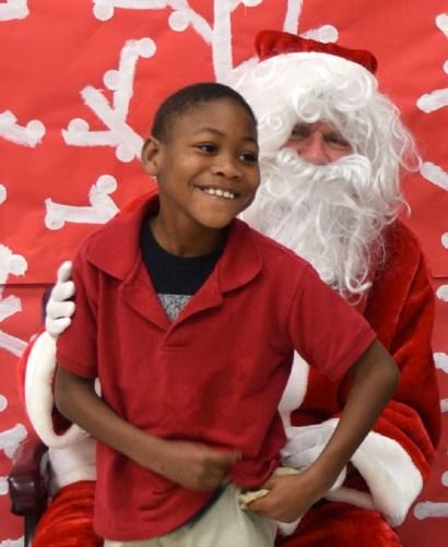 Attorney Dan Coley plays Santa each year. (Joann McKnight/Alabama NewsCenter)