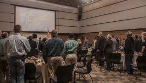 Veterans recite the Pledge of Allegiance. (Billy Brown/Alabama NewsCenter)