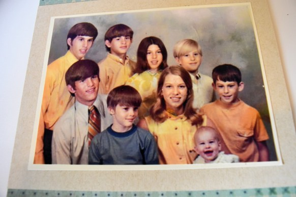 The nine children of Marian and John Ray Dominick. The family business, J-Ray Shoes, has been a part of Mobile for 64 years. (contributed)