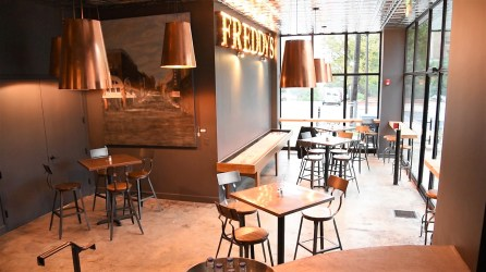 Freddy's Wine Bar offers a mix of decor and seating to cater do a variety of customers. (Dennis Washington / Alabama NewsCenter)