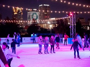 Ice skating returns to Railroad Park through Sunday, Jan. 6. (Contributed)