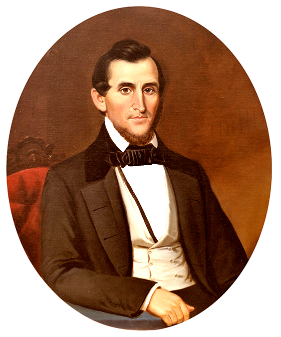 George Washington Foster (1806-1878) was a wealthy industrialist, planter and philanthropist in Florence, Lauderdale County. He is also notable for building Courtview, his large and extravagant home that later became Rogers Hall at the University of North Alabama. (From Encyclopedia of Alabama, photo courtesy of the University of North Alabama)