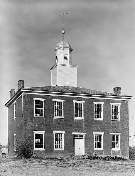 Old Morgan County Courthouse, Bluff City Road, Somerville, 1978. (Library of Congress, Prints and Photographs Division)
