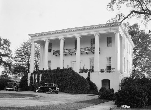 President's House at the University of Alabama, April 3, 1934. (Photograph by W.N. Manning, HABS, Library of Congress, Prints and Photographs Division)