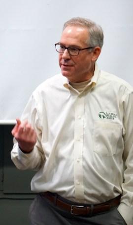 Doug Adair, AWC executive director, at the Dec. 15, 2018 ribbon-cutting program. (Erin Harney / Alabama NewsCenter)